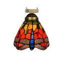 シーリングライト ステンドグラスランプ 玄関照明 ダイニング照明 簡単取付 D15cm 1灯 蝶柄