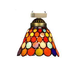 シーリングライト ステンドグラスランプ 玄関照明 ダイニング照明 簡単取付 D20cm 1灯 ドット柄