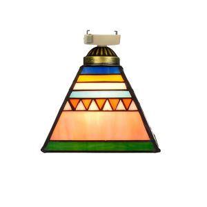 シーリングライト ステンドグラスランプ 玄関照明 ダイニング照明 簡単取付 D20cm 1灯 タワー型