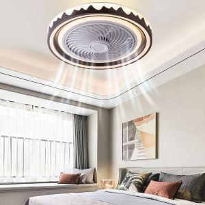 LEDシーリングファンライト リビング照明 ダイニング照明 寝室照明 3階段調色 3段階風量 リモコン付 波柄 36W