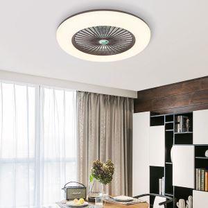 LEDシーリングファンライト リビング照明 ダイニング照明 寝室照明 3階段調色 3段階風量 リモコン付 丸型 40W