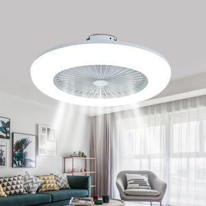 LEDシーリングファンライト リビング照明 ダイニング照明 寝室照明 無階段調光調色 3段階風量 リモコン付 45W