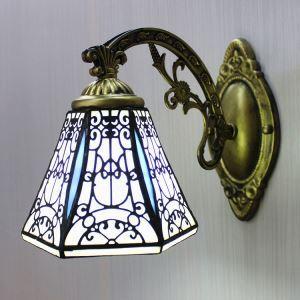 壁掛けライト ステンドグラスランプ ウォールランプ 照明器具 ロッジ型 1灯 BEH403959