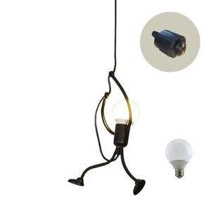 ペンダントライト ダイニング照明 玄関照明 店舗照明 簡単取付 人型 LED電球付 1灯