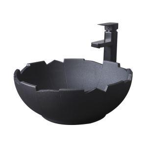 手洗い鉢 洗面ボウル 手洗器 洗面ボール 陶器 置き型 排水栓&排水トラップ付 40cm