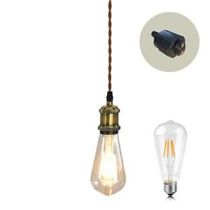 ペンダントライト ダイニング照明 玄関照明 店舗照明 簡単取付 ロフト風 LED電球付 1灯