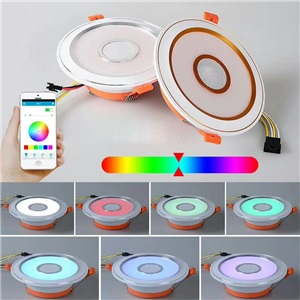 LEDダウンライト 埋込み式照明 玄関照明 APP制御 Bluetooth接続 RGB 7W