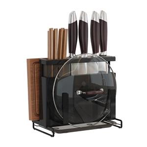 キッチン収納 キッチンツール 包丁スタンド まな板スタンド ステンレス製 シンプル