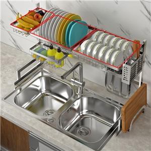 キッチンラック キッチン収納 水切りラック シンク周り 2段式 ステンレス製 大容量