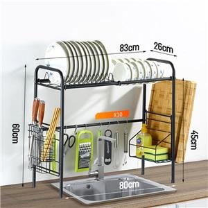 キッチンラック キッチン収納 水切りラック シンク周り 1段式 ステンレス製 大容量
