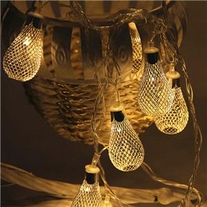 LEDイルミネーションライト LEDストリングライト 雫型照明 防水 電池式 パーティー 祝日飾り