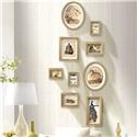 フォトフレーム 写真立て 壁掛け・卓上両用額縁 フォトデコレーション 木製 9個セット