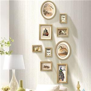 壁掛けフォトフレーム 写真立てセット 額縁 フォトデコレーション ソリッドウッド 9個セット TSS01