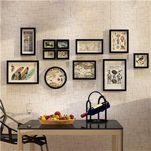 フォトフレーム 写真立て 壁掛け・卓上両用額縁 フォトデコレーション 木製 12個セット