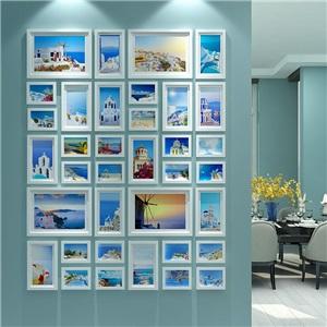 フォトフレーム 写真立て 壁掛け・卓上両用額縁 フォトデコレーション 木製 36個セット