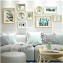 フォトフレーム 写真立て 壁掛け・卓上両用額縁 フォトデコレーション 木製 8個セット