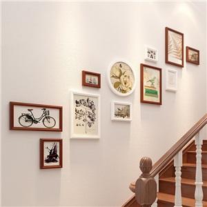 壁掛けフォトフレーム 写真立てセット 額縁 フォトデコレーション ソリッドウッド OMG3333