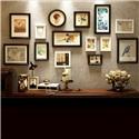 フォトフレーム 写真立て 壁掛け・卓上両用額縁 フォトデコレーション 木製 14個セット