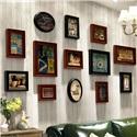 フォトフレーム 写真立て 壁掛け・卓上両用額縁 フォトデコレーション 木製 13個セット