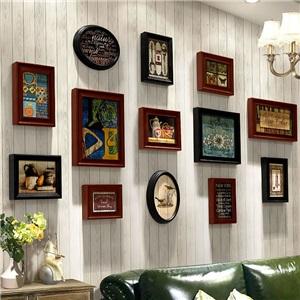 壁掛けフォトフレーム 写真立てセット 額縁 フォトデコレーション ソリッドウッド 13個セット TSH01