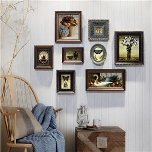 壁掛けフォトフレーム 写真立てセット 額縁 フォトデコレーション ソリッドウッド 8個セット TST801