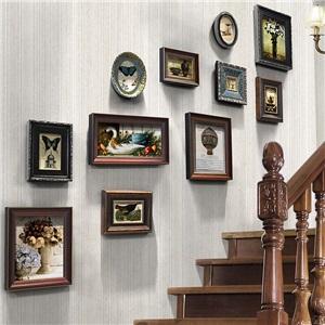 壁掛けフォトフレーム 写真立てセット 額縁 フォトデコレーション ソリッドウッド 11個セット TST02