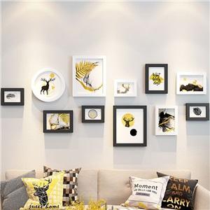 壁掛けフォトフレーム 写真立てセット 額縁 フォトデコレーション ソリッドウッド