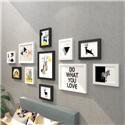 フォトフレーム 写真立て 壁掛け・卓上両用額縁 フォトデコレーション 木製 11個セット