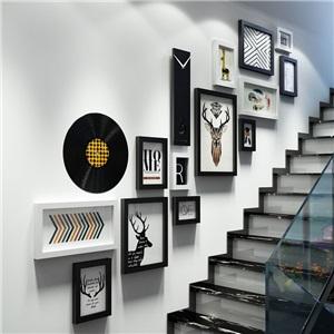 フォトフレーム 写真立てセット 壁掛け・卓上両用額縁 フォトデコレーション 木製