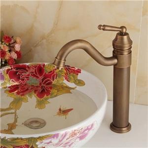 洗面蛇口 バス水栓 冷熱混合水栓 水道蛇口 真鍮 ブラス H29cm