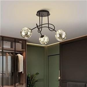 LEDシャンデリア リビング照明 ダイニング照明 天井照明 北欧風 魔豆型 3/5/8灯
