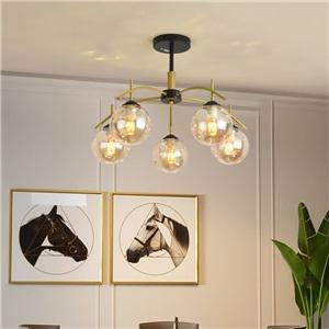 LEDシャンデリア リビング照明 ダイニング照明 天井照明 北欧風 魔豆型 5/6/8灯