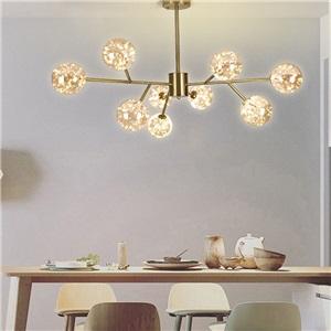 LEDシャンデリア リビング照明 ダイニング照明 天井照明 北欧風 魔豆型 2色 9/12/15/18灯