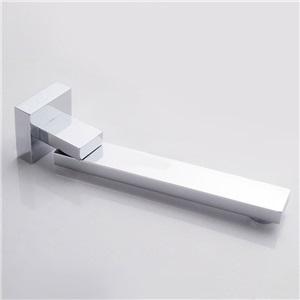 壁付水栓 洗面蛇口 注ぎ口 水栓金具 180°回転 真鍮製 クロム(ハンドル無し)