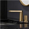 洗面蛇口 バス水栓 冷熱混合栓 水道蛇口 水栓金具 シングルレバー 金色