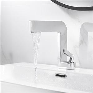 洗面蛇口 バス水栓 冷熱混合水栓 手洗器蛇口 立水栓 4色 7字型