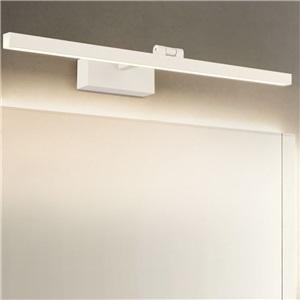 LEDミラーライト 壁掛け照明 ウォールランプ 化粧室ブラケット 180度調整 2色
