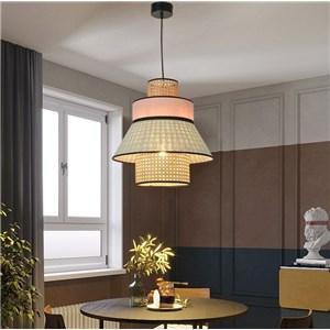 ペンダントライト リビング照明 寝室照明 店舗照明 スカート型 竹 1灯