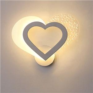 LED壁掛け照明 ブラケット ウォールランプ 寝室照明 子供屋照明 ハート型 LED対応