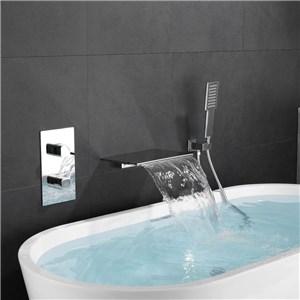 浴槽水栓 壁付蛇口 シャワー混合栓 浴室水栓 ハンドシャワー付 水道蛇口 3点 3色