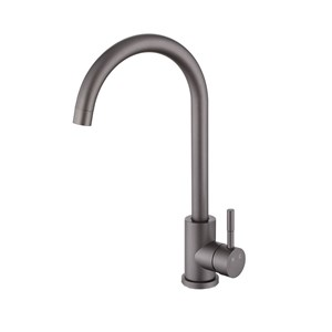 キッチン蛇口 台所蛇口 冷熱混合栓 水道蛇口 ステンレス鋼 回転可 ガングレー H360mm