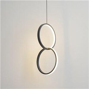 LEDペンダントライト ダイニング照明 寝室照明 子供屋照明 8字型 2色