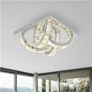 LEDシーリングライト クリスタル照明 リビング照明 ダイニング照明 半円型