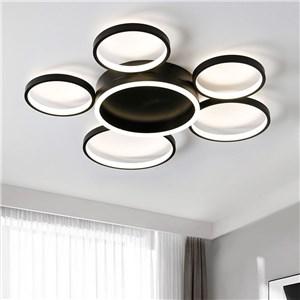 LEDシーリングライト リビング照明 ダイニング照明 店舗照明 子供屋照明 6輪 黒色