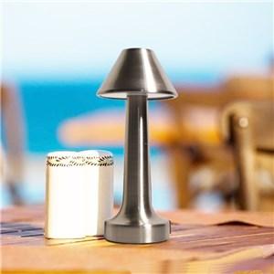 LEDテーブルランプ 卓上照明 タッチセンサー 3段階調光 電球色 3W 傘型