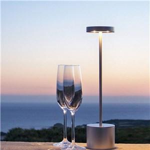 LEDテーブルランプ 卓上照明 タッチセンサー 2段階調光 電球色 3W 帽子型