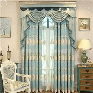 遮光カーテン オーダーカーテン 刺繍 葉柄 欧米風 寝室 リビング オシャレ(1枚)