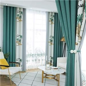 遮光カーテン オーダーカーテン ジャカード 木柄 北欧風 寝室 リビング オシャレ(1枚)