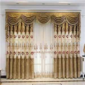 遮光カーテン オーダーカーテン ジャカード 花柄 欧米風 寝室 リビング オシャレ(1枚)