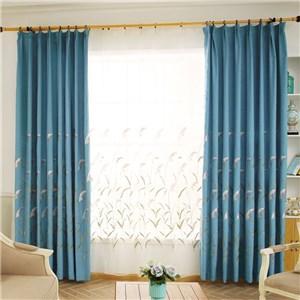 遮光カーテン オーダーカーテン 刺繍 植物柄 北欧風 寝室 リビング オシャレ(1枚)